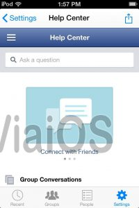 How to log out from ios 7 Facebook messenger app?