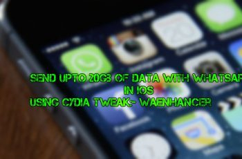 Now send GB of data from whatsapp with iPhone, iPad or iPod