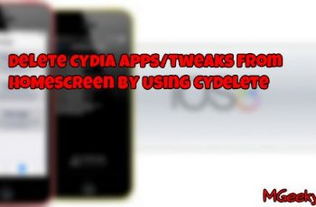 How to Delete Cydia Installed Tweaks/Apps From Springboard [iOS 8]