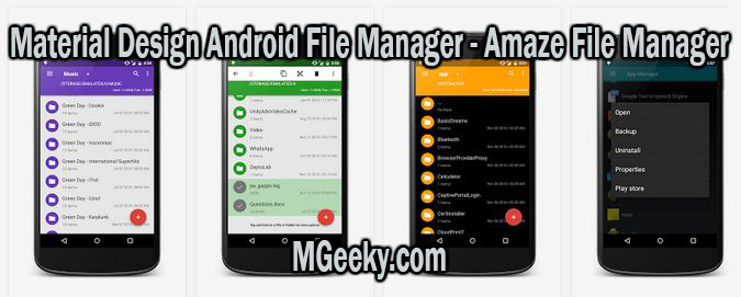 Material Design Android File Manager - Amaze File Manager