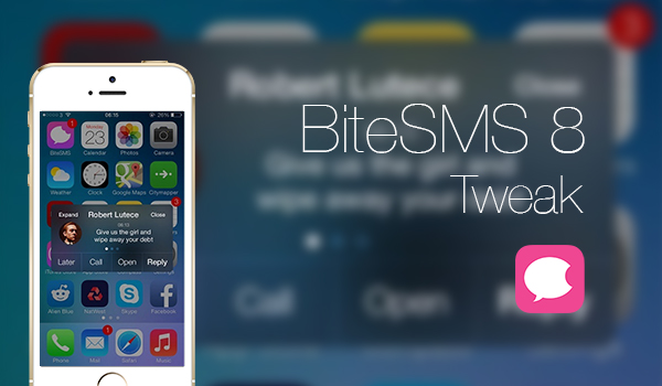 BiteSMS Updated for iOS 8 [Beta Version]