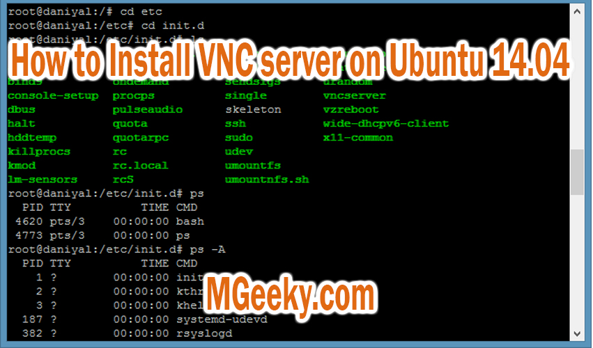 How to Install VNC server on Ubuntu 14.04