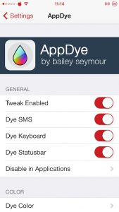 Change Blue Color Scheme of iOS With Color Of Your Own Choice Using AppDye [Cydia Tweak]