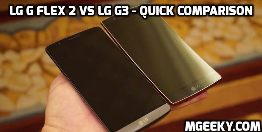 LG G3 vs LG G Flex 2