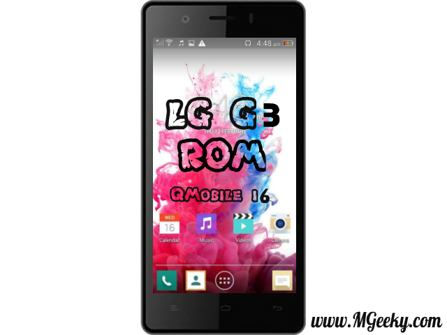 lg g3 custom rom for qmobile i6