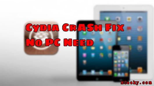Cydia Crash Fix | No Need PC - MGeeky