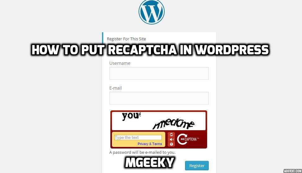 How-to-get-recaptcha-in-wp