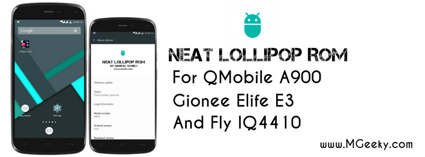 neat lollipop rom for a900, e3
