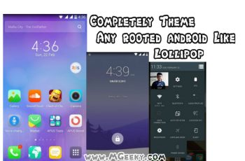 completely Theme any rooted android like lollipop with pposed