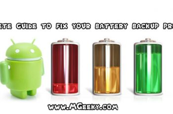 guide to fix battery backup problems