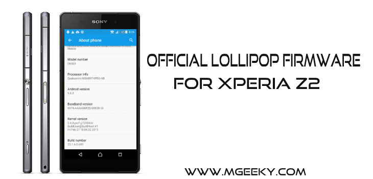 official lollipop for xperia z2