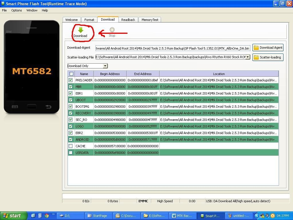 how to flash stock firmware on mediatek smartphone