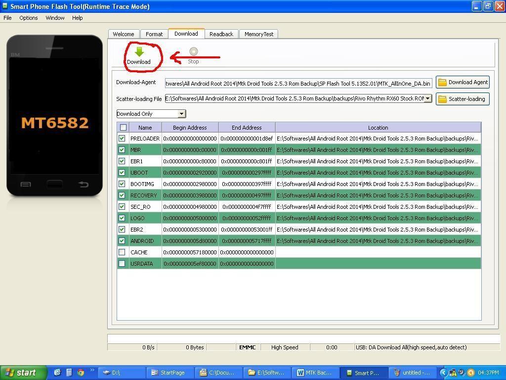 how to flash stock firmware on mediatek smartphone