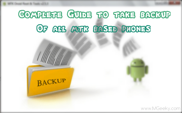 how to take backup of stock rom mtk phone