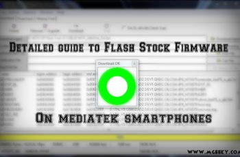 detail guide to flash stock firmwares on mediatek smartphones