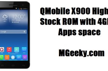 Qmobile X900 Stock ROM with 4GB internal