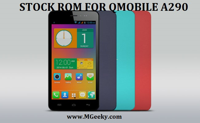 qmobile a290 stock rom