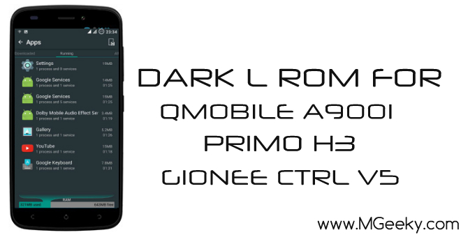 dark l rom for qmobile a900i, ctrl v5 and primo h3