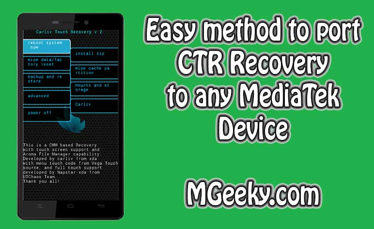 Make CTR Recovery for any MTK Phone
