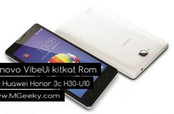 Lenovo VibeUi Kitkat Rom For Huawei Honor 3c