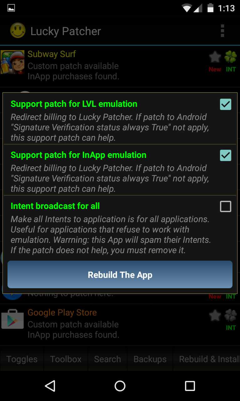 android in app purchase hack root