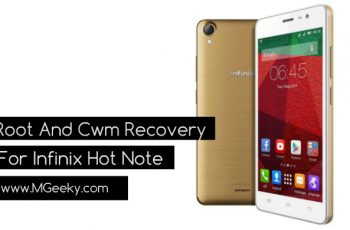 Root And Cwm Recovery For Infinix Hot Note