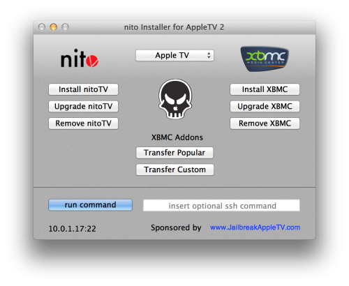nito installer for kodi Apple TV 2
